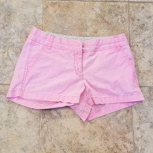 J. CREW Good Condition Distress Pink Short Shorts